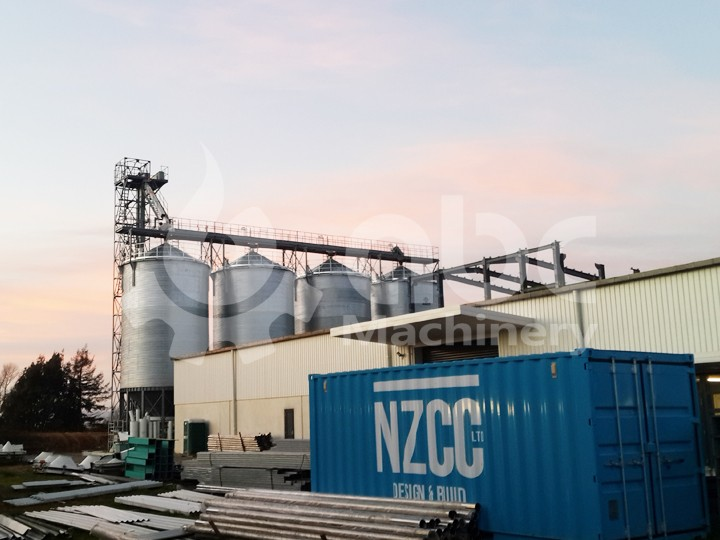 1000T wheat silo project in New Zealand