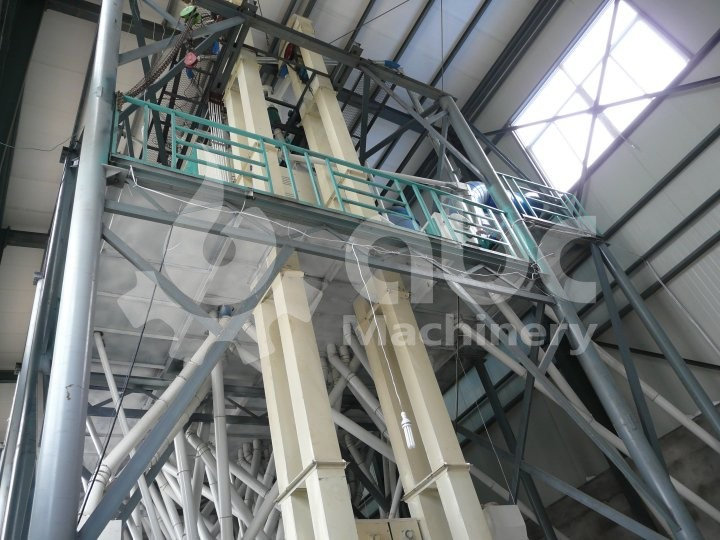 120TPD Wheat Flour Mill Line in India