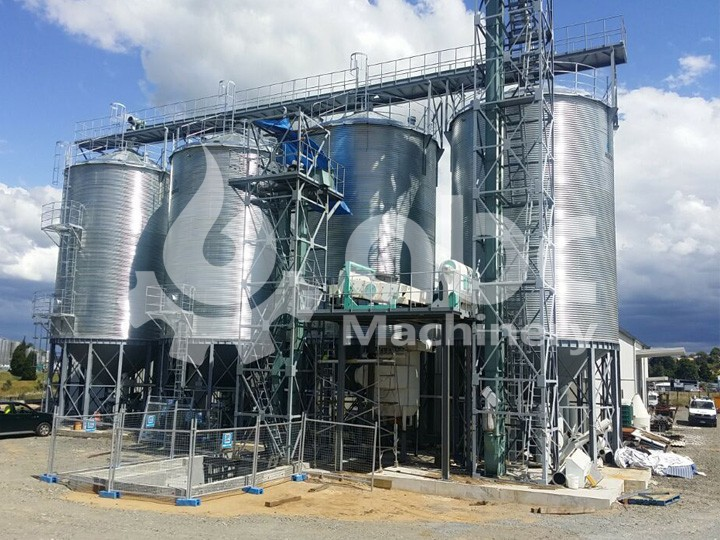 4 250ton silo for raw wheat