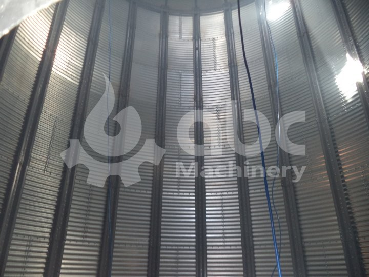 inside of the silo