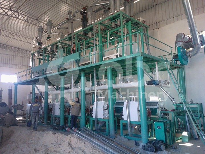 60TPD wheat flour milling plant in Algeria