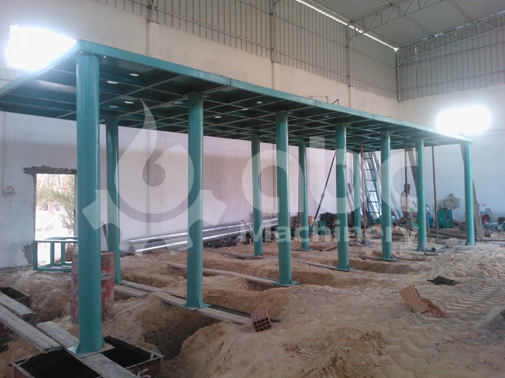 steel frame structure of wheat flour milling plant