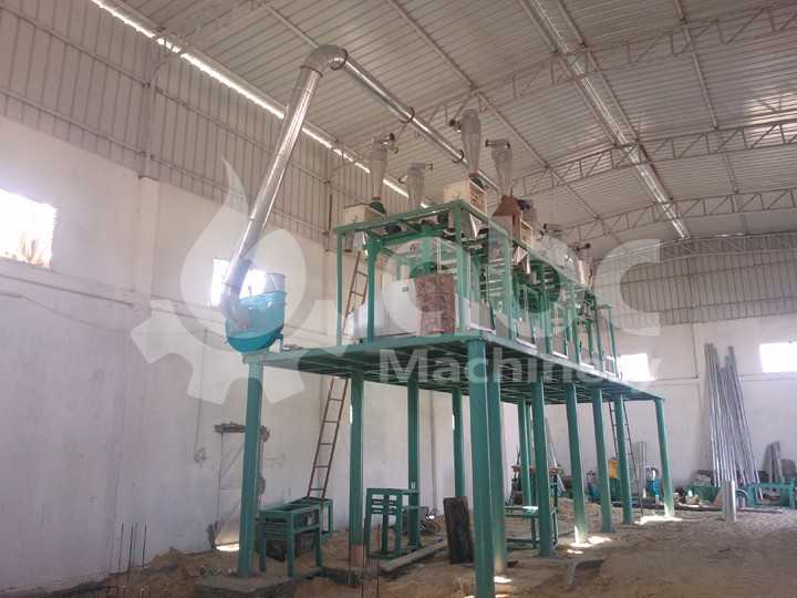 wheat flour milling plant install